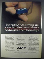 1980 AMP DIP Switch Ad - Cut Time and Costs