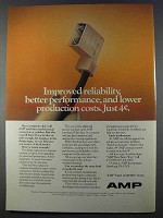 1980 AMP Electrical Connectors Ad - Reliability