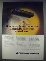 1980 AMP Electrical Connectors Ad - Plating With Gold