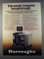 1980 Burroughs B90 Series Computers Ad - Breakthrough