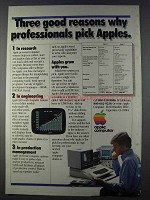 1980 Apple II and III Computers Ad - Three Good Reasons