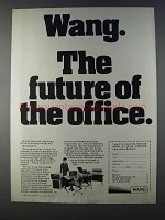1980 Wang Integrated Information Systems Ad - Future