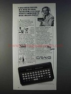 1980 Craig Translator Information Center Ad - Jim McKay