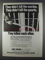 1980 ABC News Closeup Death in a Southwest Prison Ad