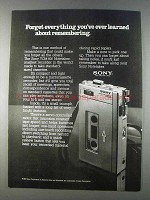 1980 Sony TCM-600 Notetaker Ad - Forget Everything
