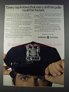 1980 General Electric Ad - Every Cop Knows Every Shift