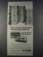 1980 TDK-SA Cassette Tape Ad - High Standards