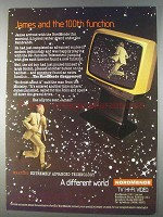 1980 NordMende Television Ad - James and 100th Function