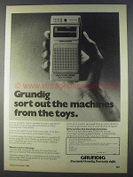1980 Grundig Stenorette 2050 Ad - The Machines