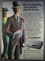 1980 Hitachi VT8000 Video Recorder Ad - On a Sure Thing