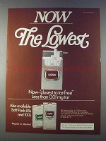 1980 Now Cigarettes Ad - The Lowest