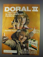 1980 Doral II Cigarettes Ad - Only 5 mg Tar