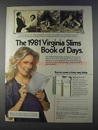 1980 Virginia Slims Lights Cigarettes Ad - Book of Days