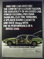 1980 Rover 3500 Car Ad - Only One Car Gives You