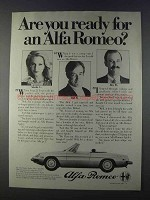 1980 Alfa Romeo Spider Veloce Ad - Are You Ready