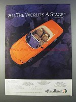 1980 Alfa Romeo Spider Ad - All The World's A Stage