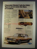1980 Chevrolet Monte Carlo Ad - Never Seen the Likes