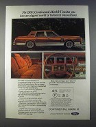 1980 Lincoln Continental Mark VI Car Ad - Elegant