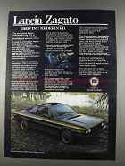1980 Lancia Zagato Car Ad - Driving Redefined