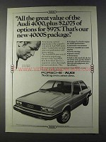 1980 Audi 4000S Car Ad - Our New Package