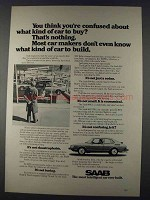 1980 Saab 900 Car Ad - You Think You're Confused