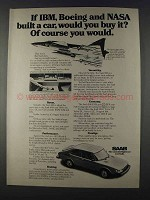 1980 Saab 900 Car Ad - If IBM, Boeing and NASA Built