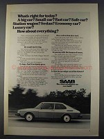 1980 Saab 900 Car Ad - What's Right for Today?