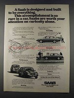 1980 Saab 900 Car Ad - Designed to Be Everything
