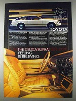 1980 Toyota Celica Supra Ad - Feeling is Believing