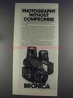 1980 Bronica ETR Camera System Ad - Without Compromise