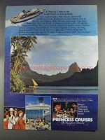 1980 Princess Cruises Ad - To the South Pacific