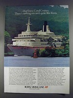 1980 Royal Viking Line Ad - Trans-Canal