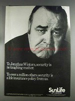 1980 Sun Life of Canada Insurance Ad - Jonathan Winters