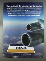 1980 VISA Credit Card Ad - Have it The Way You Want
