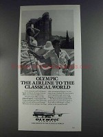 1980 Olympic Airways Ad - Airline to Classical World