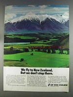 1980 Air New Zealand Ad - We Don't Stop There