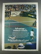 1980 United Airlines Ad - Advantage Women's Tennis