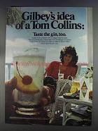 1980 Gilbey's Gin Ad - Idea of a Tom Collins