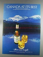 1980 Canadian Mist Whisky Ad - Canada At Its Best