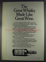1980 Old Forester Whisky Ad - Make Like Great Wine