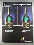 1980 Laurent Perrier Champagne Ad - Only Two Reasons