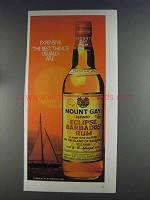 1980 Mount Gay Eclipse Barbados Rum Ad - Expensive