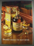 1980 Drambuie Liqueur Ad - Over Ice the Night Before