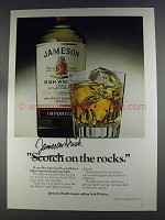 1980 Jameson Irish Whiskey Ad - On the Rocks