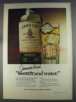 1980 Jameson Irish Whiskey Ad - And Water