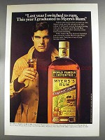 1980 Myers Rum Ad - This Year I Graduated