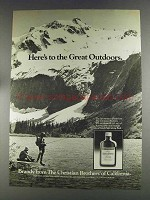 1980 Christian Brothers Brandy Ad - Great Outdoors