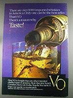 1980 Seagram's V.O. Whisky Ad - 3000 Imported