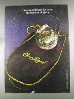 1980 Seagram's Crown Royal Ad - An Ordinary Ice Cube