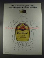 1980 Seagram's Crown Royal Ad - Draws Conclusion